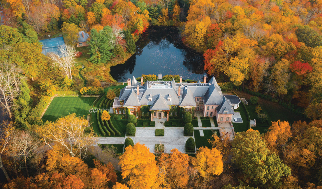 18,000 Square Foot Brick New Canaan Chateau